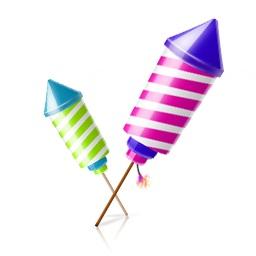 Ракеты, римские свечи, фестивальные шары